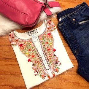 Joseph A. Embroidered Top